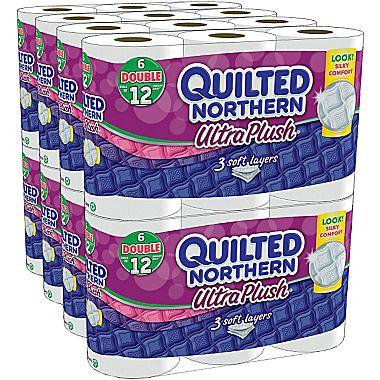 $19.99 Quilted Northern Ultra Plush Bathroom Tissue, 3-Ply, 48 Double Rolls/Case