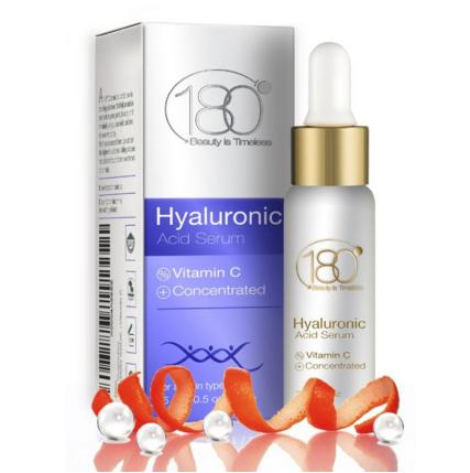 180 Cosmetics Pure Swiss Hyaluronic Acid Serum with Vitamin C, 0.5 oz