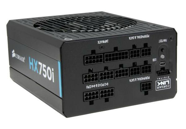 CORSAIR HX750i 750W 80 PLUS PLATINUM Certified Full Modular Power Supply
