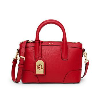 Ralph Lauren Fairfield Leather Mini Satchel