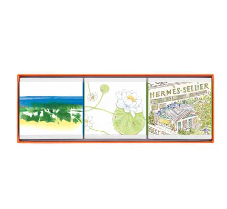 $66 HERMÈS Limited Edition Gift Set Comprised of 3 Garden Soaps @ Neiman Marcus