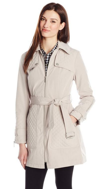 From $46.63 Kenneth Cole Women's Hooded Trench Coat