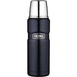 Thermos Stainless Steel King 16 Ounce Compact Bottle, Midnight Blue