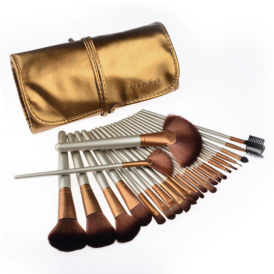PeleusTech® 24pcs Makeup brushes set Cosmetics Synthetic Professional Brush Set Kit