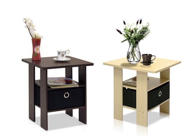 Furinno End Table With Bin Drawer
