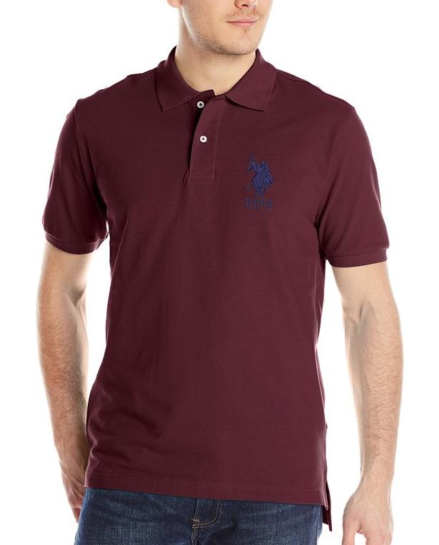 U.S. Polo Assn. Men's Solid Short-Sleeve Pique Polo Shirt @ Amazon