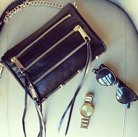 Rebecca Minkoff Mini 5 Zip Leather Crossbody @ Saks Off 5th
