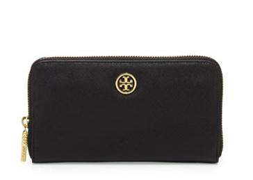 Tory Burch Continental Zip Wallet, Black @ Neiman Marcus