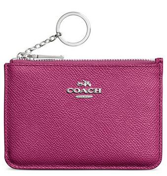 COACH KEY POUCH IN CROSSGRAIN LEATHER @ macys.com