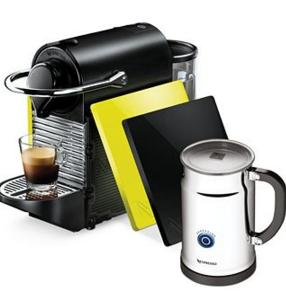 Nespresso Pixie Clip Espresso Maker Bundle with Milk Frother @ macys