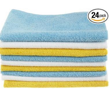 AmazonBasics Microfiber Cleaning Cloth, 24 Pack