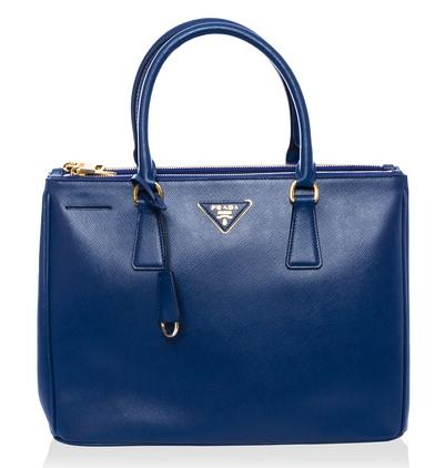 Prada Leather Tote, Bluette On Sale @ MYHABIT