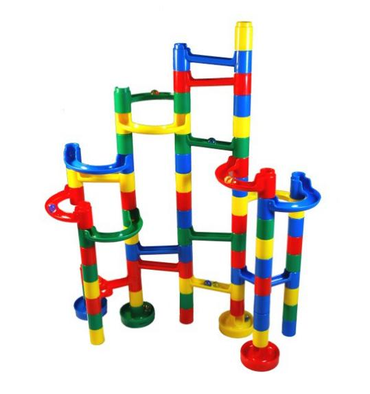 Lightning deal-Marble Madness Marble Run*60 Pc. Set