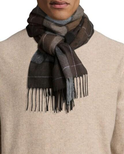 Neiman Marcus Cashmere Large-Plaid Scarf @ LastCall by Neiman Marcus
