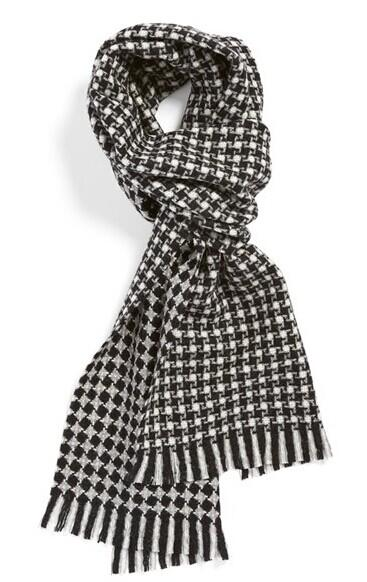 BOSS 'Forellino' Houndstooth Wool Scarf @ Nordstrom