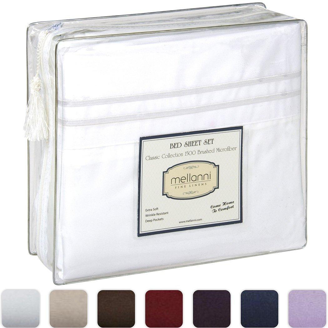 Mellanni Bed Sheets Bedding Set - HIGHEST QUALITY Brushed Microfiber 1500 Collection