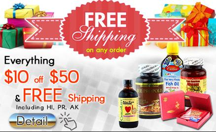 $10 OFF $50 + Free shipping New Year Specials @ Daily Vita