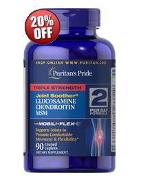 5 for $32.18 Triple Strength Glucosamine, Chondroitin & MSM Joint Soother