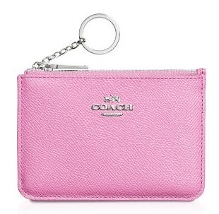 COACH KEY POUCH IN CROSSGRAIN LEATHER @ Bloomingdales