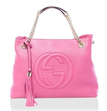 Gucci Soho Leather Shoulder Bag, Pink @ MYHABIT