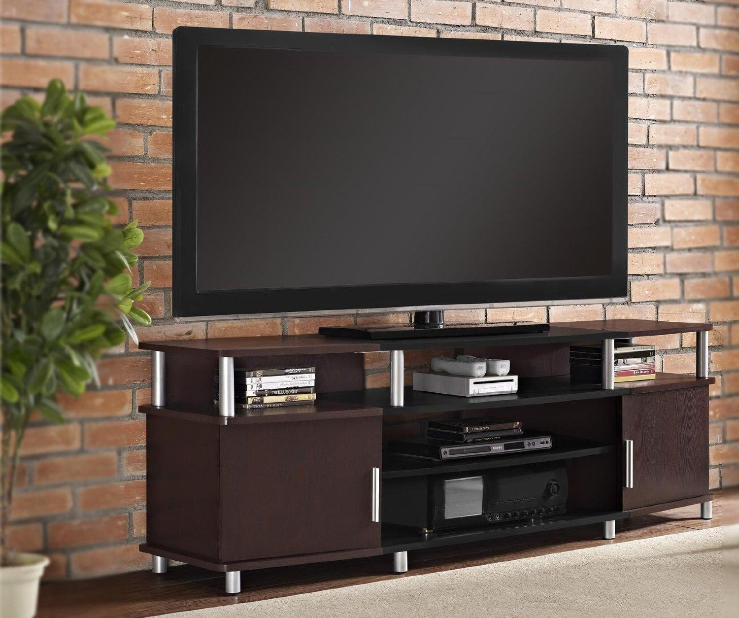 Altra Carson TV and Gaming Stand for TVs up to 70-Inch, Cherry/Black