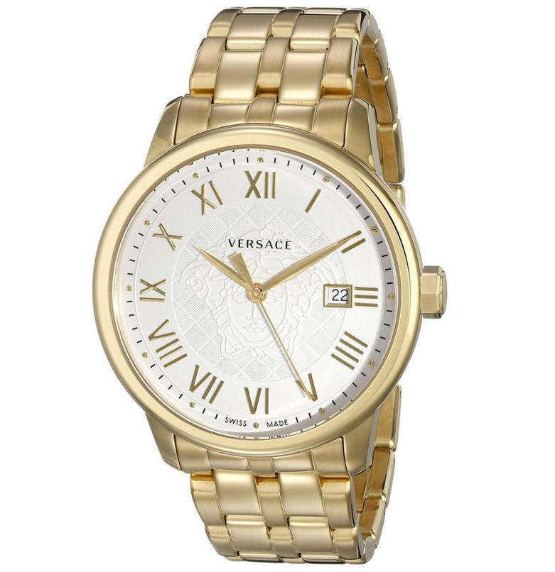 Lowest price! Lightning Deal---Versace Men's Business Gold Ion-Plated Stainless Steel Watch