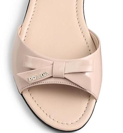 Prada Bow Slide Sandal On Sale @ Nordstrom