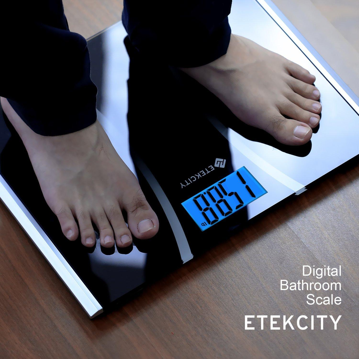 Etekcity Digital Body Weight Bathroom Scale, 440lb /200kg