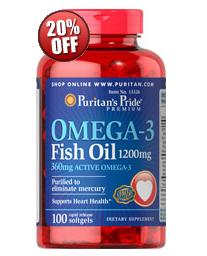 6 for $28.98 Omega-3 Fish Oil 1200 mg
