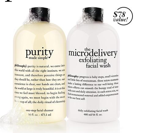 Free Purity Duo with Any $55 Purchase @ philosophy