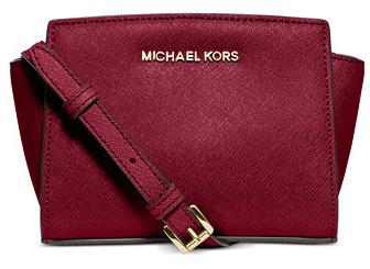 MICHAEL MICHAEL KORS Selma Leather Mini Messenger Bag