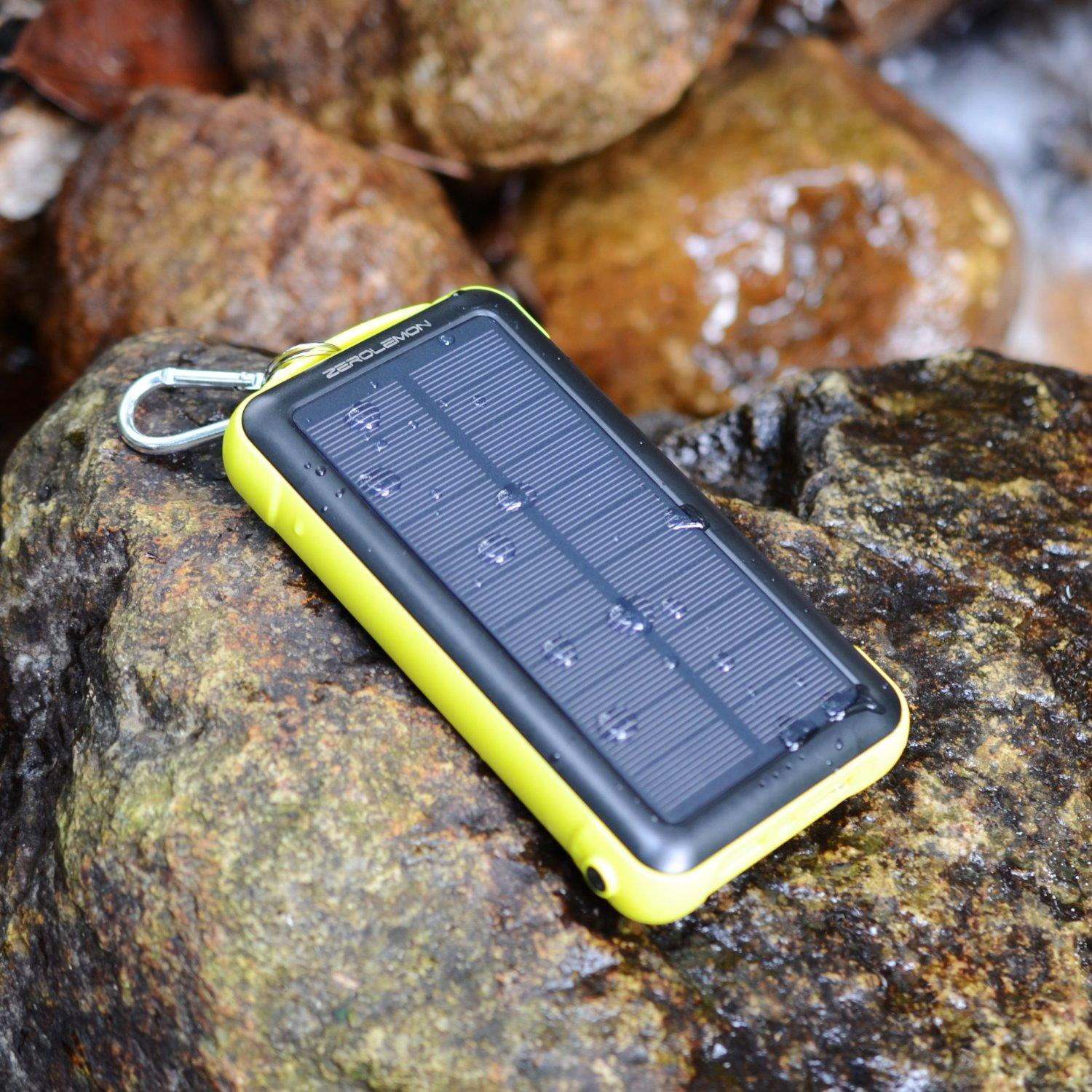 ZeroLemon SolarJuice 20000mAh Solar Charger External Battery