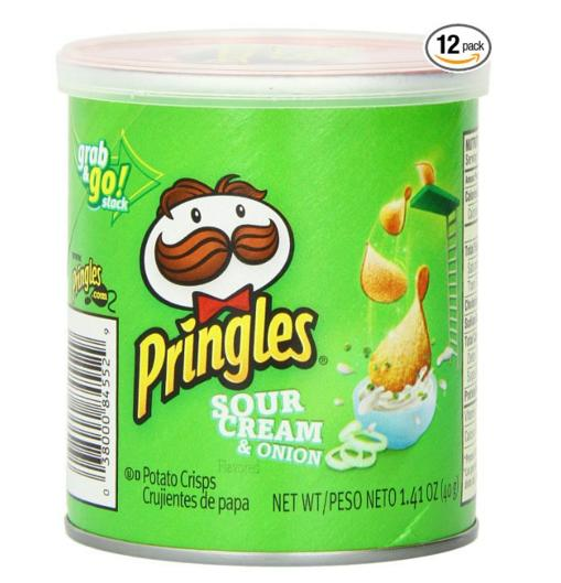 $4.22 Pringles Sour Cream and Onion Small Stacks, 1.41 Ounce (Pack of 12)