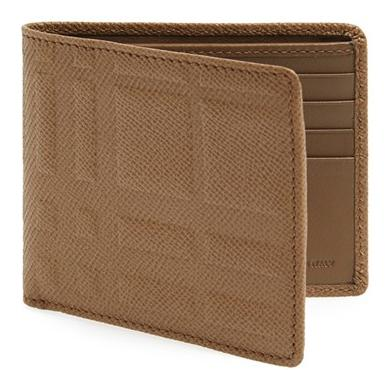 Burberry London Embossed Check Billfold Wallet On Sale @ Nordstrom