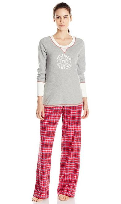 Tommy Hilfiger Women's Two-Piece Pajama Set @ Amazon