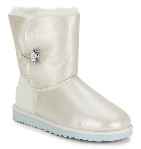 UGG Australia Bailey Metallic Jewel-Button Shearling Boots @ Saks Off 5th