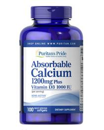 5 for $21.98 Puritan's Pride Absorbable Calcium 1200 mg with Vitamin D 1000 IU