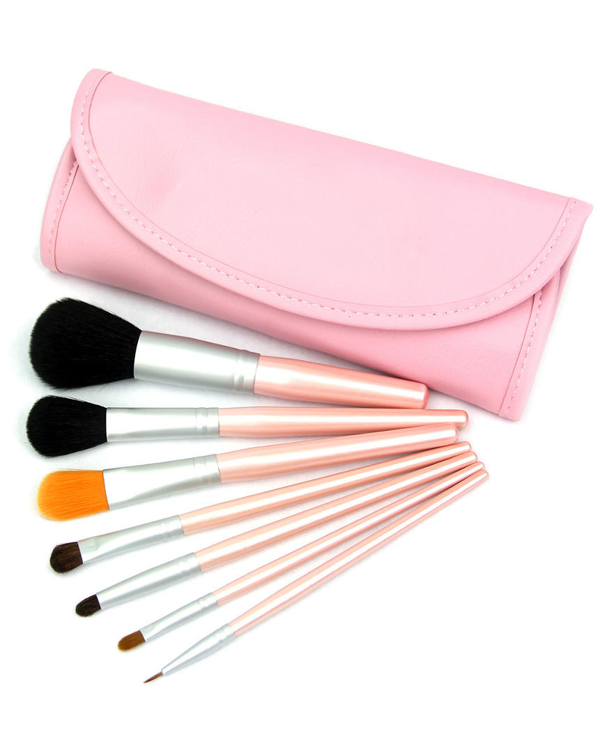 Crown Brush 7pc Pink Travel Set On Sale @ Rue La La
