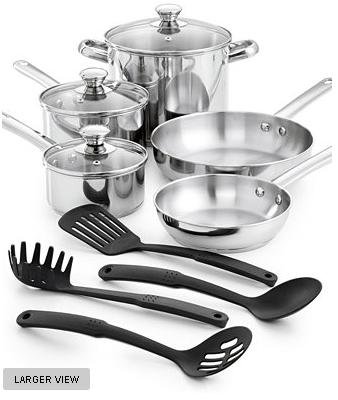 $39.99 Tools of the Trade 12 Piece Cookware Set