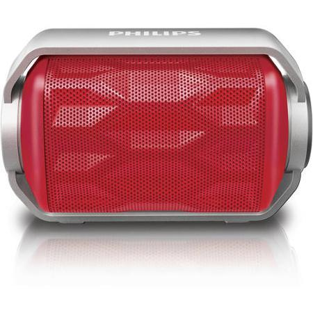 Philips BT2200B/27 Shoqbox Mini Rugged Compact Wireless Waterproof Outdoor or Shower Portable Bluetooth Speaker