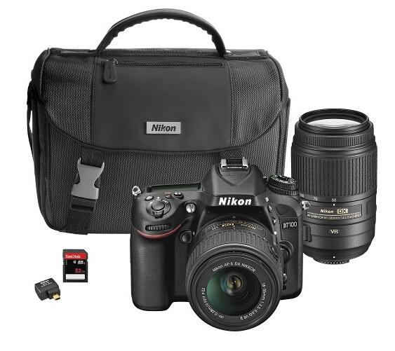 $1149.99 Nikon D7100 DSLR Camera with 18-55mm VR II and 55-300mm VR Lenses