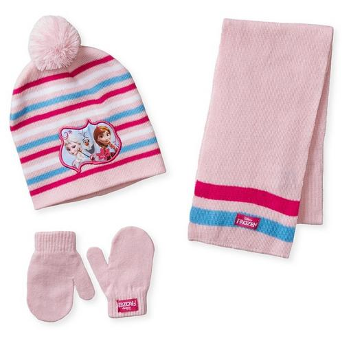 Disney Berkshire Little Girls' 3 Piece Frozen Anna Elsa Olaf Hat Mitten and Scarf Set