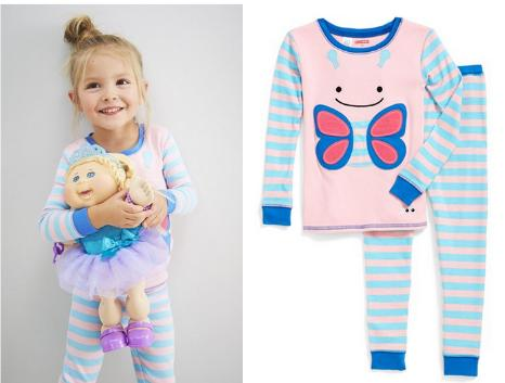 Skip Hop 'Zoojamas - Butterfly' Two-Piece Pajamas
