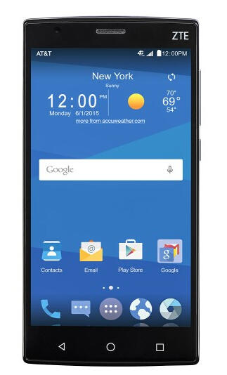 AT&T GoPhone ZTE Zmax 2 4G with 16GB Memory No-Contract Cell Phone - Black