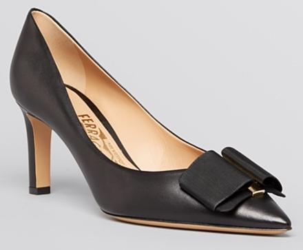 Salvatore Ferragamo Pointed Toe Pumps - Mimi High Heel