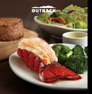 晚餐8.5折 Outback Steakhouse 牛排餐厅优惠