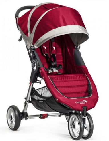 Baby Jogger City Mini Stroller In Crimson, Gray Frame, BJ11436 @ Amazon