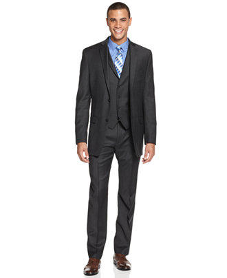 $111 Macy's Alfani Red Slim Fit Suit Jacket & Pants