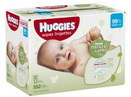 $8.34 Huggies Natural Care Baby Wipes Refill, 552 Count