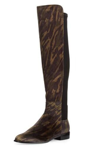 Stuart Weitzman  Mainstay Tiger-Print Stretch Knee Boot, Wild @ LastCall by Neiman Marcus